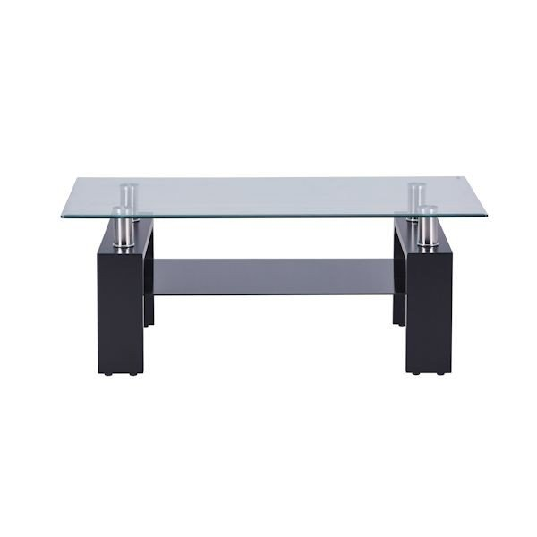 ガラステーブル センターテーブル リビング 黒|kaguch|11