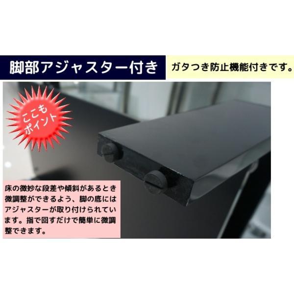 ガラステーブル センターテーブル リビング 黒|kaguch|06