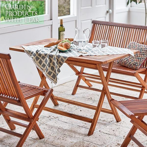 ガーデンテーブル おしゃれ テーブル 木製 ベランダ 屋上 庭 テラス バルコニー ガーデニング カフェ風 アウトドア 折りたたみ 幅120cm