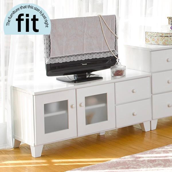テレビ台 完成品 白 ホワイト TV台 おしゃれ テレビボード ロータイプ 安い 木製 fit フィット
