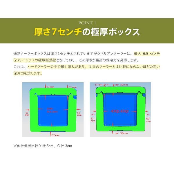 クーラーボックス 保冷力 大型 おすすめ 最強 保冷性が高いクーラー シベリアンクーラーボックス SIBERIAN COOLERS アウトドア 42.5L|kagukouboukuraya|11