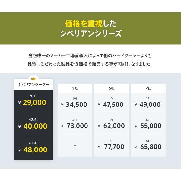 クーラーボックス 保冷力 大型 おすすめ 最強 保冷性が高いクーラー シベリアンクーラーボックス SIBERIAN COOLERS アウトドア 42.5L|kagukouboukuraya|09