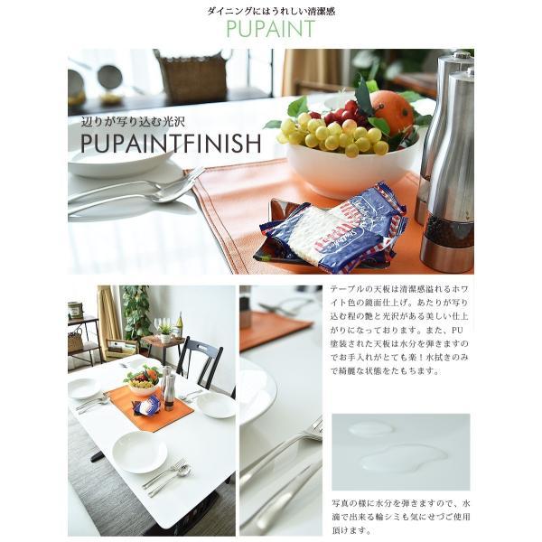 ダイニングテーブルセット 4点 ベンチ 北欧 カフェ 伸長式 回転|kagunomori|05