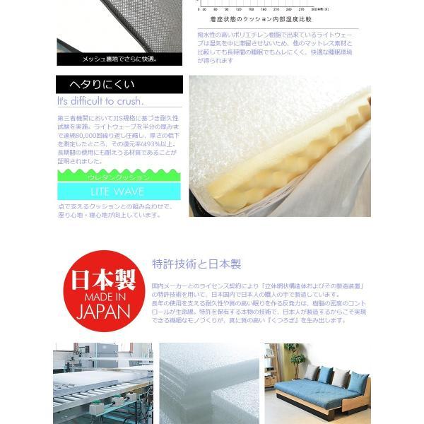 ベッド ソファーベッド 2色対応 やや硬め 幅200 3人用 シングルベッド|kagunomori|08