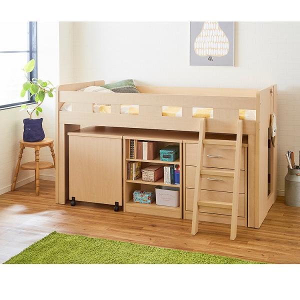 システムベッド システムベット ベッド ベット 子供 ロフトベッド|kaguone|05