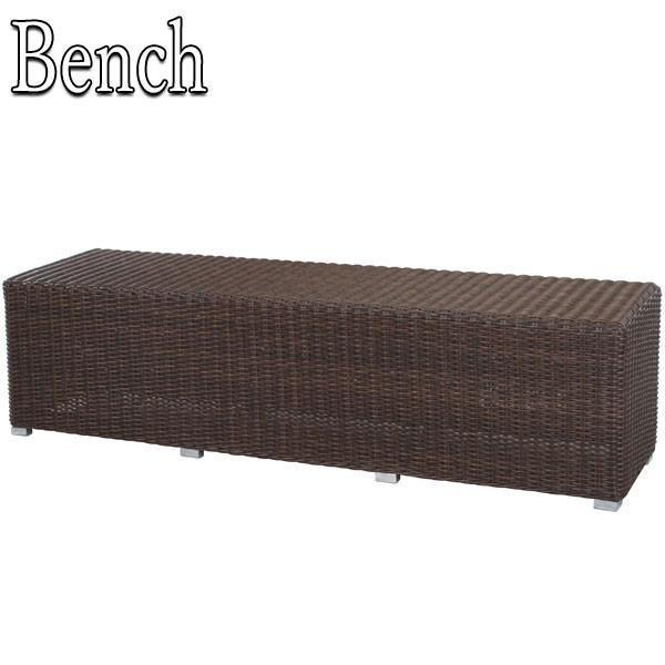 ガーデンベンチ 屋外用 長椅子 籐ベンチ イス 腰掛 いす 籐 人工ラタン ラタン調 ナチュラル リゾート アジアン 和風 IR-0103