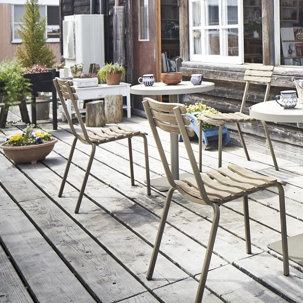 ガーデンチェア 木製 チークアンティーク古材風 leren