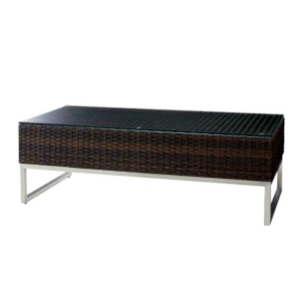 籐ラタン風センターテーブルガーデンソファー用リビングテーブル屋外業務用 malaga-table