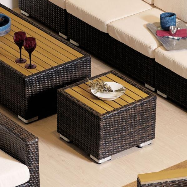 業務用籐ラタン風ガーデンソファー用サイドテーブル50×50 rhodes-stable2