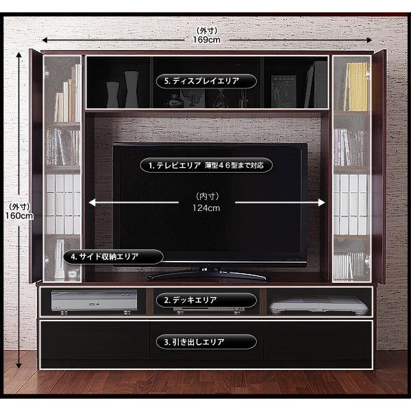 テレビ台 ハイタイプ 幅169cm 収納一体型 おしゃれ テレビボード kagustyle 05