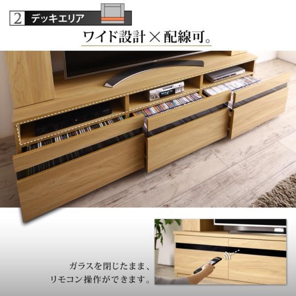 テレビ台 ハイタイプ 幅180cm 収納付き 55インチ テレビボード kagustyle 12