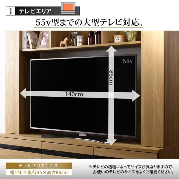 テレビ台 ハイタイプ 幅180cm 収納付き 55インチ テレビボード kagustyle 15