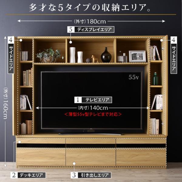 テレビ台 ハイタイプ 幅180cm 収納付き 55インチ テレビボード kagustyle 03