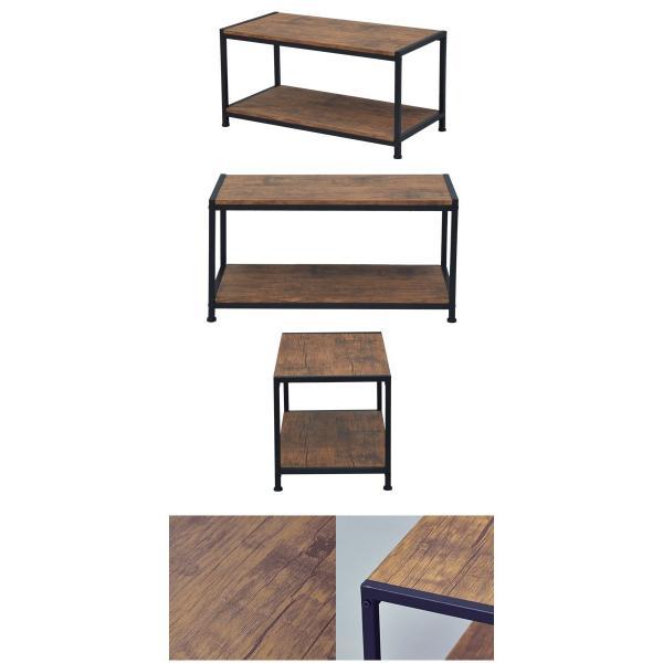 (予約販売) テレビ台 ローテーブル『ブルックリンスタイル コーヒーテーブル』幅80cm 奥行き40cm 高さ40cm ヴィンテージ風 木製ソファーテーブル (ABX-300)|kaguto|06