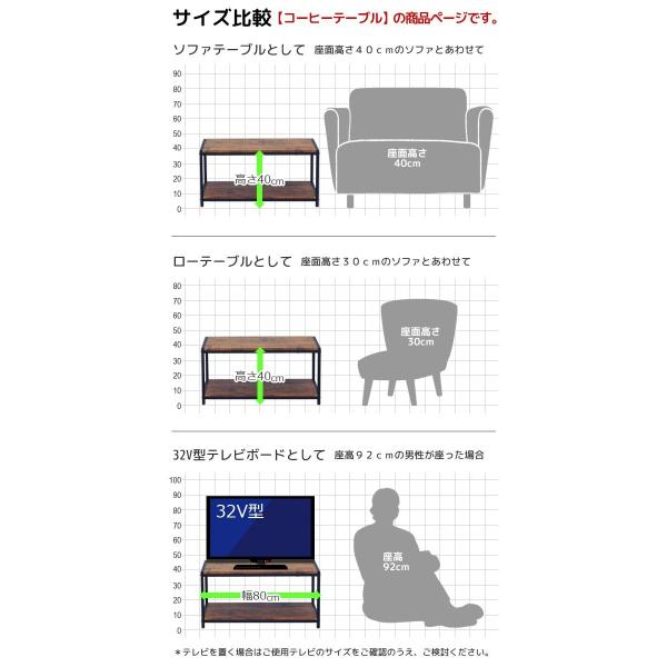 (予約販売) テレビ台 ローテーブル『ブルックリンスタイル コーヒーテーブル』幅80cm 奥行き40cm 高さ40cm ヴィンテージ風 木製ソファーテーブル (ABX-300)|kaguto|07