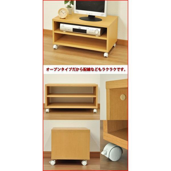 『キャスター付きフリーラックM』(CFR-2M) 幅60cm 奥行き35cm 高さ32.8cm 送料無料 木製シンプルテレビ台(サイドテーブル、プリンター台) テレビボード|kaguto|04