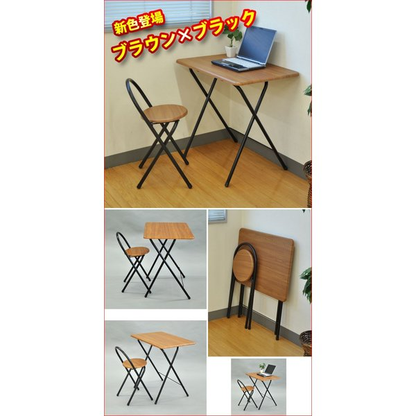 (S)折りたたみテーブル&チェアセット 送料無料 コンパクト収納 折り畳みテーブル 折りたたみ テーブル 椅子 チェアー セット ミシン台(OT-100 OT-600)|kaguto|06