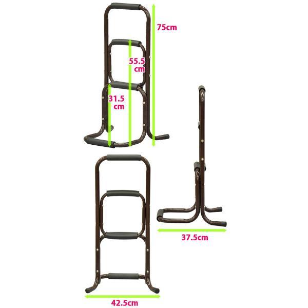 立ち上がり補助手すり 立ち上がりサポートスタンド ハイタイプ75cm 手摺り|kaguto|05
