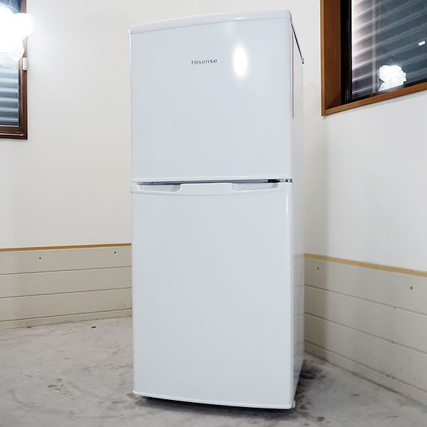 【中古】 Hisense HR-B106JW BK3426 106L 直冷式2ドア冷蔵庫 右開き|kaguya-interior|05
