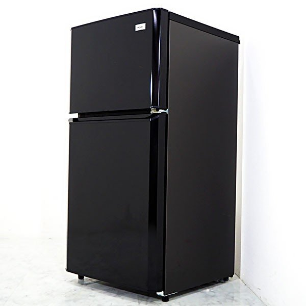 極美品2015年製 MF163 Haier 106L 2ドア冷蔵庫 JR-N106H 除菌シート付 人気の黒 一人暮らしに嬉しい省エネ/静音設計|kaguya-interior|05