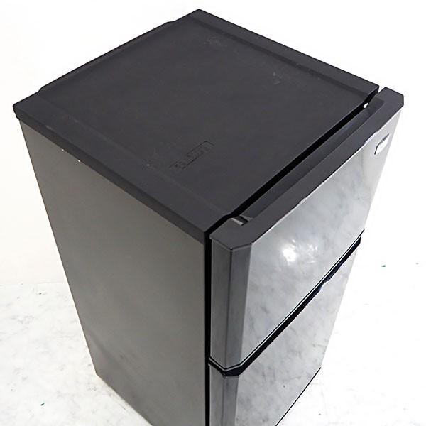 極美品2015年製 MF163 Haier 106L 2ドア冷蔵庫 JR-N106H 除菌シート付 人気の黒 一人暮らしに嬉しい省エネ/静音設計|kaguya-interior|06