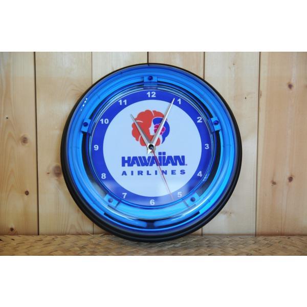 ハワイアンエアラインネオンクロック|kahinetshop|02