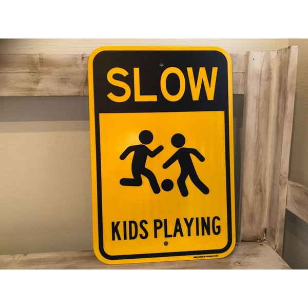 SLOW KIDS PAYING メタルサイン|kahinetshop