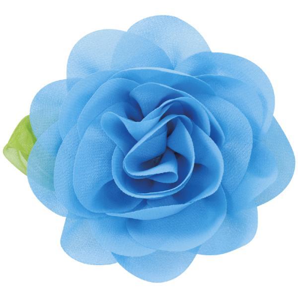 コサージュバッジ ブルー 花飾り バラ 薔薇 花 フラワー 造花 アクセサリー アクセ 雑貨 かわいい おしゃれ アーテック 75027