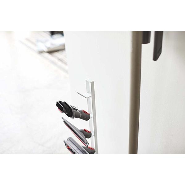 ダイソン製掃除機用 クリーナーツールスタンド プレート L V10 V8 V7 V6 シリーズ対応 ホワイト 約13X20X66.5cm plate 山崎実業 3557|kaichou|05