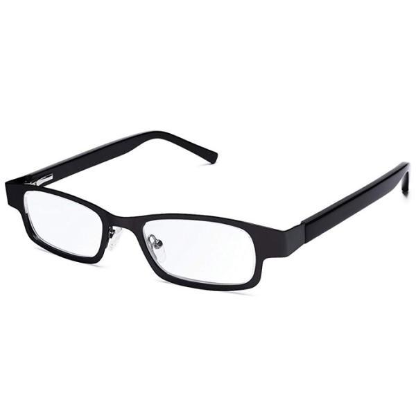 アイジャスターズ オックスブリッジ ブラック&ブラック 度数可変 シニアグラス ハードケース付 老眼鏡 イギリス製 メテックス EYJOXB-BK