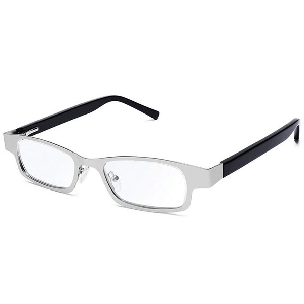 アイジャスターズ オックスブリッジ シルバー&ブラック 度数可変 シニアグラス ハードケース付 老眼鏡 イギリス製 メテックス EYJOXB-SVBK