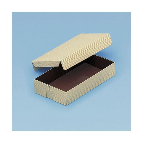 使い捨て 弁当箱 コバパック(フタ付)深型7号(うるし赤)   紙弁当箱(寿司・赤飯)