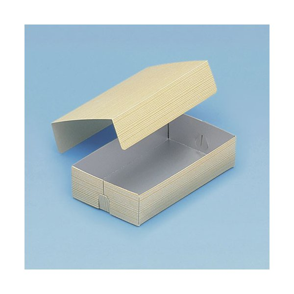 使い捨て 弁当箱 コバパック(フタ付)三金型(銀)   紙弁当箱(寿司・赤飯)