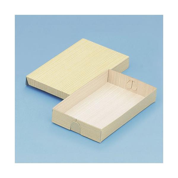 使い捨て 弁当箱 コバパック(フタ付)本7号(柾目)   紙弁当箱(寿司・赤飯)