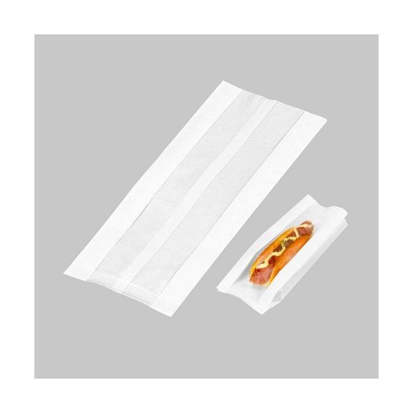 ホットドッグ 容器 テイクアウト フランクフルト 業務用 袋 紙 窓付き ホットドック 窓付きホットドッグ袋 (大) 【199462】 チーズハットグ チーズドック