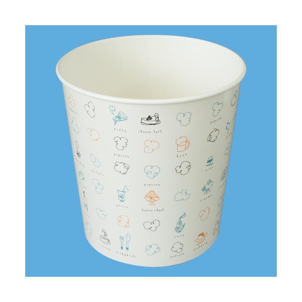 スナックバケット(92オンス) 使い捨て 業務用 ポップコーンカップ カップ 容器 包装紙 紙 袋 持ち帰り テイクアウト