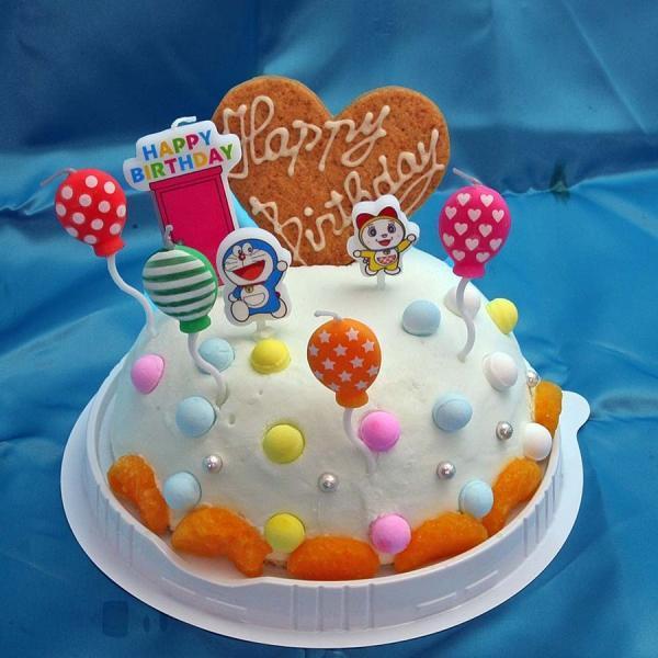 バースデーアイスケーキドラえもんローソク付きラムネ味お誕生日アイスケーキ