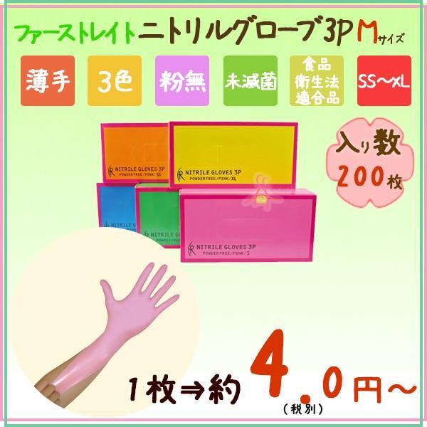ニトリルグローブ 薄手 粉なし Mサイズ 送料無料 業務用 介護もんスーパー