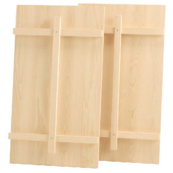 木製浴槽・風呂蓋(ふろふた)縦桟(たてさん)付2枚組 900型