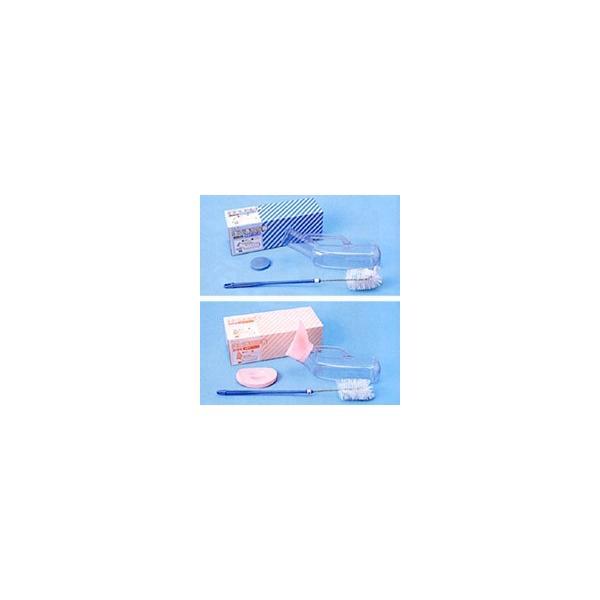 尿器 しびん 塩ビ透明尿器(洗浄ブラシ付)