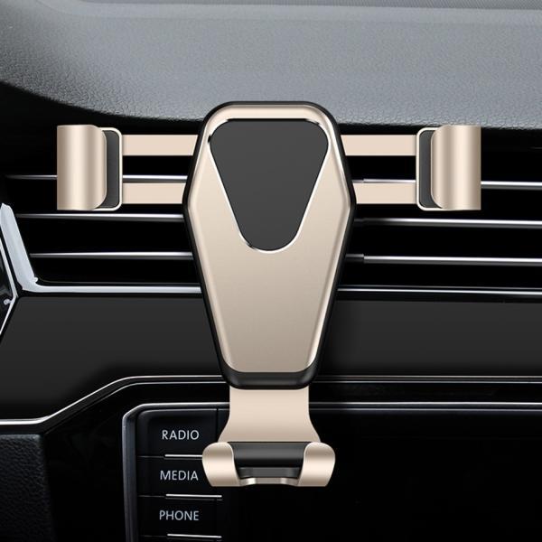 車載ホルダー スマホ スマートフォン フォルダー 車用 高級 カーナビ スタンド エアコン吹き出し口 重力サポート 車内用品 運転支援 全自動感応 iPhone Android|kaimonotengoku|16