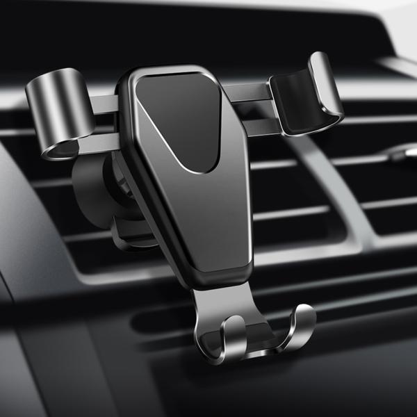 車載ホルダー スマホ スマートフォン フォルダー 車用 高級 カーナビ スタンド エアコン吹き出し口 重力サポート 車内用品 運転支援 全自動感応 iPhone Android|kaimonotengoku|17