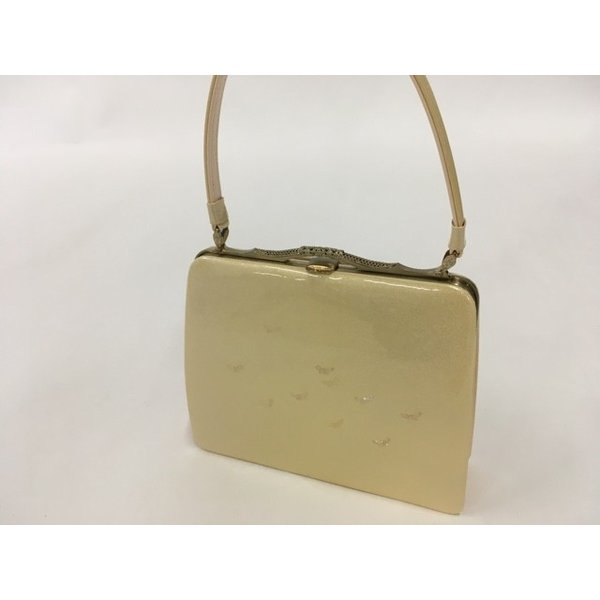 着物 美品 優品 バッグ 和装小物 フォーマル金 蝶 螺鈿風 中古品 リサイクル バイセル  PK70