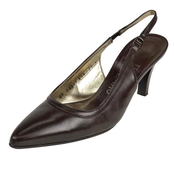 サルヴァトーレフェラガモ Salvatore Ferragamo バックストラップ パンプス その他靴 レザー(靴) ブラウン レディース 【中古】