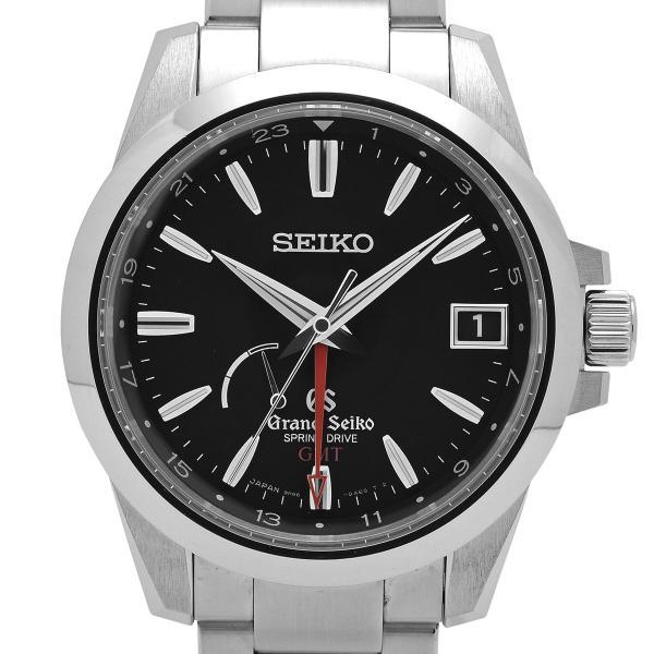 グランドセイコー GRAND SEIKO 9Rスプリングドライブ GMT SBGE013/9R66-0AE0 腕時計 SS スプリングドライブ ブラック メンズ 【中古】