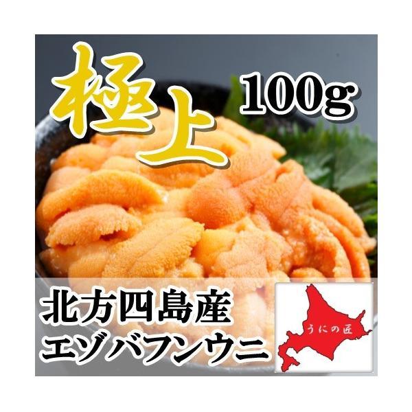 【極上】無添加 塩水生うに 100g (エゾバフンウニ)(北方四島産)(北海道うに丼)