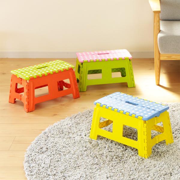 踏み台 折りたたみ クラフタースツール スツール おしゃれ シンプル かわいい 子ども こども 子供 ステップ 椅子 いす イス 台 カラフル ワイド M