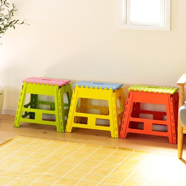 踏み台 折りたたみ クラフタースツール スツール おしゃれ シンプル かわいい 子ども こども 子供 ステップ 椅子 いす イス 台 カラフル ワイド L