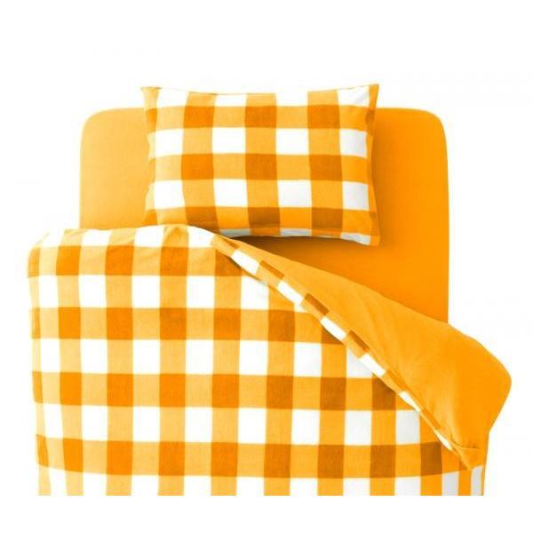 スーパーマイクロフリース ピローケース(枕カバー) の単品1枚 43x63cm 色-チェック柄オレンジ|kaitekibituuhan|02