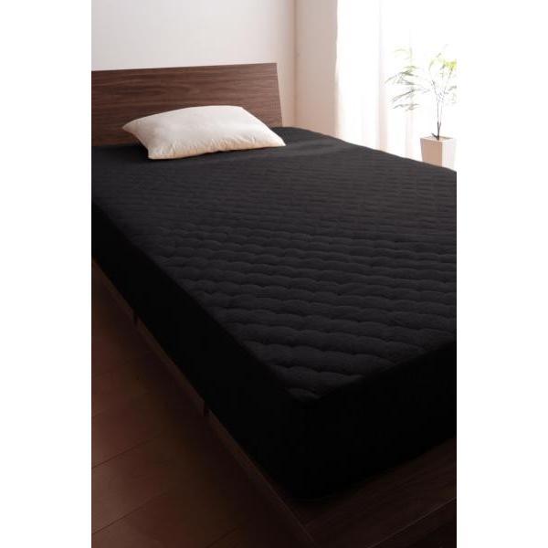 タオル地 敷きパッド一体型ボックスシーツ の単品(マットレス用) セミダブル 色-ワインレッド /綿100%パイル|kaitekibituuhan|10